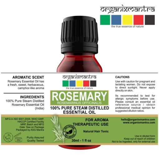 Steam Distilled Pure Rosemary Oil